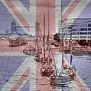 Thames Barges Tower Bridge 2012 Poster