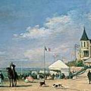 The Beach At Trouville Poster