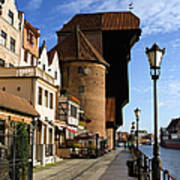 The Crane In Gdansk Poster