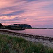 Twilight After A Sunset At A Beach Poster by Ulrich Schade