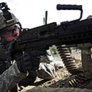 U.s. Army Soldier Provides Security Poster