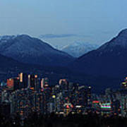 Vancouver City Twilight Panorama Poster