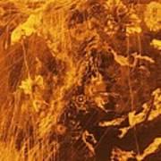 Venus, Synthetic Aperture Radar Map Poster by Detlev Van Ravenswaay