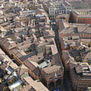 View Of Bologna From The Torre Degli Poster