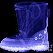 X-ray Of A Childs Light-up Boot Poster
