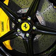 2012 Ferrari 458 Spider Brake Pad Yellow Poster