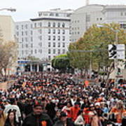 2012 San Francisco Giants World Series Champions Parade Crowd - Dpp0001 Poster by Wingsdomain Art and Photography