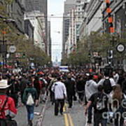 2012 San Francisco Giants World Series Champions Parade Crowd - Dpp0002 Poster by Wingsdomain Art and Photography