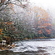 Autumn Snow Monongahela National Forest Poster