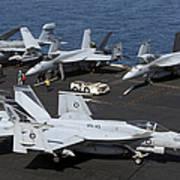 An Fa-18e Super Hornet During Flight Poster