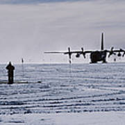 Antarctic Airfield Poster