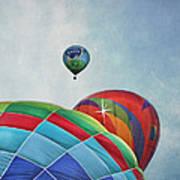 3 Balloons At Readington Poster by Pat Abbott