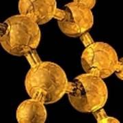 Benzene, Molecular Model Poster