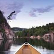 Canoeing In Ontario Provincial Park Poster