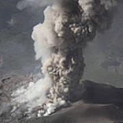 Eruption Of Ash Cloud From Santiaguito Poster