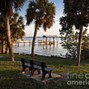 Evening On The Indian River Lagoon Poster