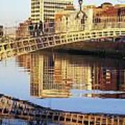 Hapenny Bridge, River Liffey, Dublin Poster