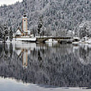 Lake Bohinj In Winter Poster