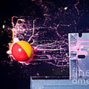 Paintball Shot At Razor Blade Poster