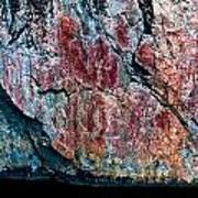 Painted Rocks At Hossa With Stone Age Paintings Poster