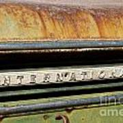 Rusted Antique International Car Brand Ornament Poster
