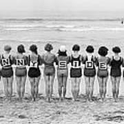 Silent Film Still: Beach Poster