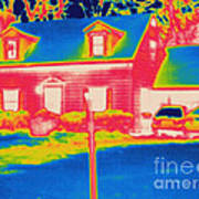 Thermogram Of A House Poster