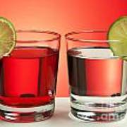 Two Red Drinks Poster