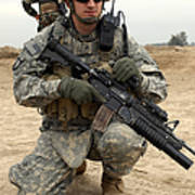 U.s. Army Sergeant Provides Security Poster