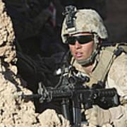 U.s. Marine Provides Security Poster
