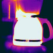 Warming Coffee Machine Poster