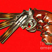 357 Magnum - Painterly - Red Poster