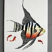 361 Tile With Fishes Poster by Wilma Manhardt