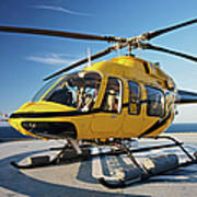 A Bell 407 Utility Helicopter Poster