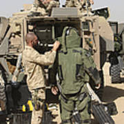 A U.s. Marine Gets Suited Poster
