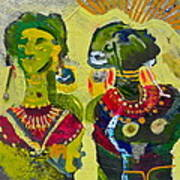 African Bead Painting  Poster