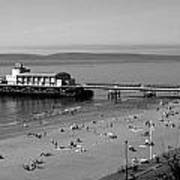 Bournemouth Pier And Beach Poster