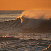 Breaking Surf At Sunset In La Jolla Poster
