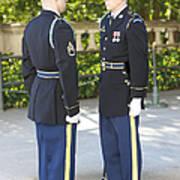 Changing Of Guard At Arlington National Poster