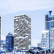 Night Scenes Of City Poster