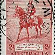 old Australian postage stamp Poster