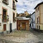Street In Historic Albaycin In Granada Poster