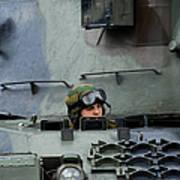 Tank Driver Of A Leopard 1a5 Mbt Poster