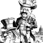 Teddy Roosevelt Cartoon Poster