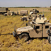 U.s. Army Soldiers Provide Security Poster