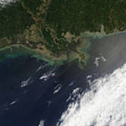 Gulf Oil Spill, April 2010 Poster by Nasa