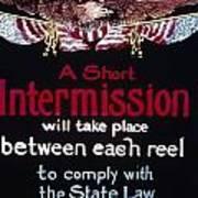 Intermission Slide Poster