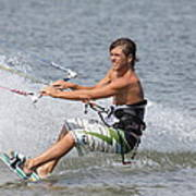 Kite Boarding Poster by Jeanne Andrews