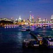 London Skyline Sunset Poster