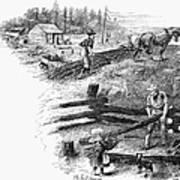 Oregon Trail Emigrants Poster